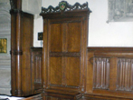 Pickering and Thornton le Dale: Richard sat in the Lady of the Manors chair